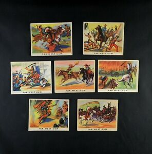 Cowboys and Indians Trade Cards Belgium by Far West Gum  Pick Your Card