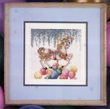 CAROUSEL AND BALLOONS CROSS STITCH PATTERN BY FRANKIE BUCKLEY