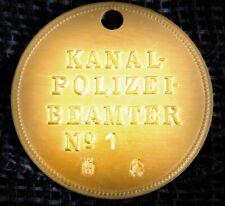 GÖDE Orden Polizeiabzeichen Kanalarbeiter Kaiser Wilhelm Kanal 1887 - 1895