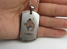 Men/Women's 12 Constellations Silver Stainless Steel Pendant Necklace Hot