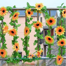High Quality DIY Artificial Sunflower Garland Flower Vine Home Floral Decor