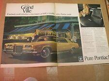 Original 1970 Pontiac Grand Ville 2-Page Magazine Ad