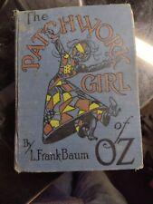 The Patchwork Book Of Oz By L. Frank Baum 1913 Blue Hc Color Illustrations