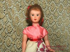VINTAGE 50's MADE IN ITALY POODLE SKIRT STYLE SLEEPY EYES MOHAIRE HAIR DOLL