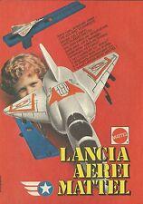 X4358 Lancia Aerei - MATTEL - Pubblicità 1979 - Advertising