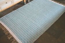 Premium Quality Teal Chevrons Rugs Reversible Cotton Medium, Very Large rugs