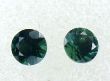 Natural Australian Sapphires Pair of 2 x 4.00mm round, total of .64 cts.    #122