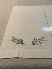 vintage hand embroidered pillowcases Standard Size