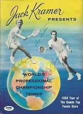 Pancho Gonzales & Segura Lew Hoad Tony Trabert Signed Tennis Program PSA/DNA COA