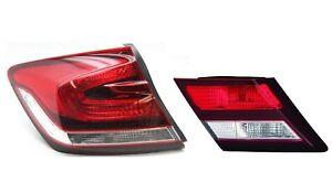 NEW Left Outer & Inner Genuine Tail Lights Brake Lamps For Honda Civic 13-15