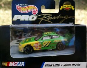 CHAD LITTLE JOHN DEERE NASCAR 1:64 SCALE TRACK EDITION 1998 COLLECTOR HOTWHEELS
