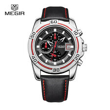 MEGIR ML2023GBK-1 chronograph military water resistant quartz watch men