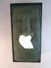 Tiki Man's Face TISSUE BOX COVER Faux Stone Dispenser by Rotary Hero. Funny.