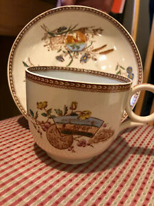 J.F.W. Staffordshire Seasons Oversized Cup and Saucer