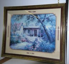 "VNT 1990 Home Interior Framed Painting by Lee K Parkinson ""Entrance with Roses"""