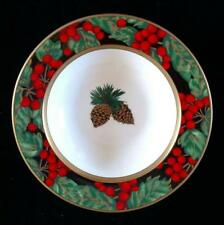 """FITZ AND FLOYD HOLIDAY PINE BONE CHINA SOUP/CEREAL BOWL 8-1/2"""" EXCELLENT"""