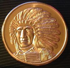 1 OZ COPPER ROUND AMERICAN INDIAN SERIES - SITTING BULL