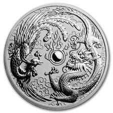 Silver Coin Australia Dragon and Phoenix 2017 - 1 oz 99.99 % pure silver