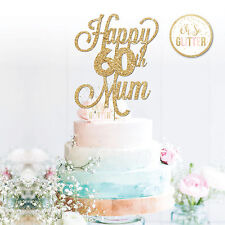 60th Mum Cake Topper,60 Topper, Custom Personalised Cake Topper 16 21 30 50 60