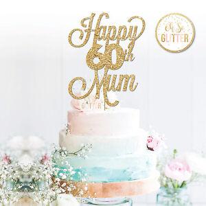 60th Mum Cake Topper,60 Topper, Custom Personalised Cake Topper 16 21 30 50 60