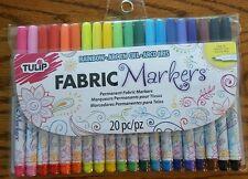 Tulip Rainbow Permanent Fabric Markers 20pc New