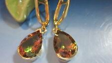 ZULTANIT (synt.) Ohrringe 585 Gelbgold Tropfenform,  Ohrhänger, Länge: 3,5 cm