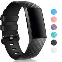 Für Fitbit Charge 3 Armband S L Ersatz Band Silikon Sport Uhr Ersatzband Fitness