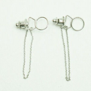 Lavalier Lapel Tie Metal Pin For Shure SONY Sennheiser Microphone (x2)
