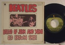 THE BEATLES : BALLAD OF JOHN AND YOKO / OLD BROWN SHOE   -   1969  Italy  7""