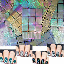 3 Sheets Manicure Nail Art Design Template Nail Tips Decal Decor Hollow Stickers