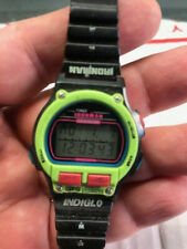 Timex Ironman Triathlon Watch Women's Indiglo 8 Lap Fluorescent Green 1997 Works