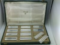 CHRISTOFLE KNIVES RESTS ART DECO LUC LANEL Brillant Art Deco 1930 X12 BOX
