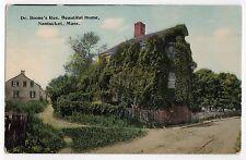 NANTUCKET ISLAND Massachusetts PC Postcard DR BOONE Residence HOUSE Home ACK