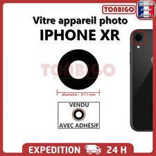 Vitre arrière caméra IPHONE XR Lentille appareil photo Lens back rear noir