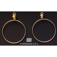 Gold Hoop Earrings Ear Rings Hippy Fancy Dress Costume Accessory Hippie