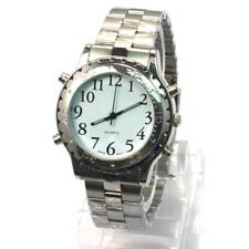 New Sliver Luxury Electronic Wristwatch English Talking Watch Voice Watch JS