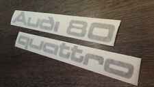 """Audi 80 + Quattro"" Heckklappen Aufkleber Typ 81/85"