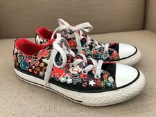 Converse All Star Black Canvas Unicorns Skulls Rainbow sneakers shoes kicks  US 2 3619b195d