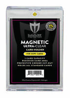 (25) Max Pro Ultra One Premium Magnetic UV 130pt Black Label Touch Card Holders