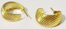 boucles d'oreilles percees anneaux bijou vintage couleur or *3638