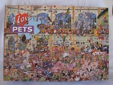Mike Jupp's I Love Pets 1000 Pc Puzzle Humor Gage Gift Cartoonist Comedy Chaos