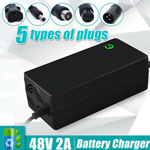48V Lithium Battery Charger 54.6V Output For Scooter Bicycle E-Bike Motorcycle .
