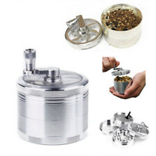 OZ J Smoke Grinder Herb Aluminum Hand Crank Herbal Tobacco Grinders 4-layer LK