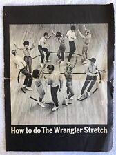 How To Do The Wrangler Stretch Sheet Music & 45 RPM 1964 Promo VERY RARE VINTAGE