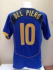 Juventus Away Football Shirt Jersey DEL PIERO 10 Large L 2004/05 Blue Nike Sky