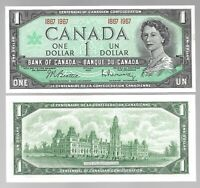 Canada One Dollar $1 (1867-1967) WITHOUT SERIAL - UNC Banknote
