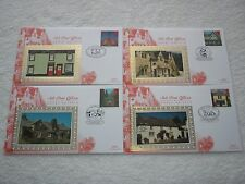 1997 GB SUB-POST OFFICES On 4 BENHAM SILK First Day Covers Special Cancels FDC