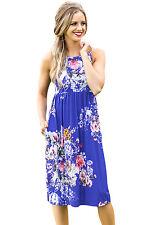 Abito stampato Floreale Top Gonna Cerimonia Cocktail Party Floral Boho Dress M