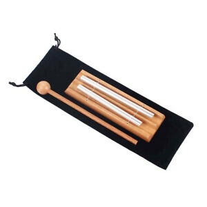 Percussion Instrument Classroom Meditation Chime Wooden With Mallet Portable