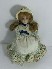 "💚 Playtown Porcelain Collection 10"" Doll 1983 Blonde Blue F1"